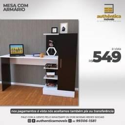 Título do anúncio: Mesa com armário em mdf direto da fábrica