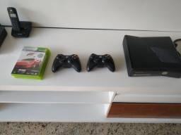 Xbox 360 desbloqueado, 2 controles e 3 jogos!
