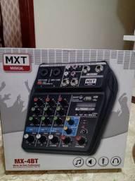 Mesa de som/ Interface de áudio MXT 4 canais.