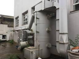 Sistema de filtragem de gases com centrífugo industrial