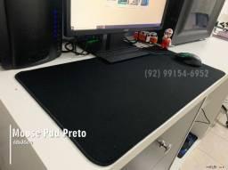 Mouse Pad Gamer Grande Preto Liso Sem Estampa Costurada, entregamos
