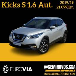 Título do anúncio: Kicks S 1.6 aut 2019/19 - Marcelo Braga