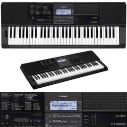 Teclado Digital Casio CTX800 61 teclas resposta ao toque,48 polifonias 600 tons 195 ritmos
