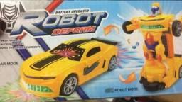 Carrinho Eletrônico Robot Deform Transformers Luz E Som/Entrega Grátis/Aceito Cartão