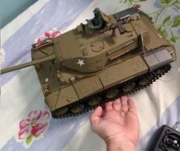 "Tanque USA M41a3 Bulldog Rc c/ Controle Remoto ""Atira"""