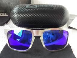 Óculos Oakley Holbrook Metal Chromo c  Lente Azul Polarizado - Novo e  Importado eaf645ce32