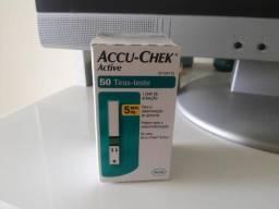Vendo Tiras testes de glicemia Accu-check active cx c/ 50 testes 997058644 comprar usado  Vila Velha
