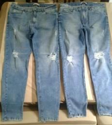 Vendo 2 calças jeans NOVAS. Não foram usadas!