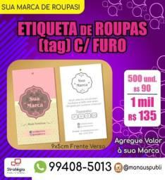 Etiqueta Personalizada para Loja de Roupas comprar usado  Manaus