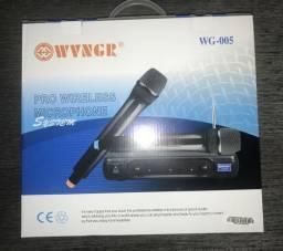 Microfone sem fio via Wireless funcionando perfeitamente