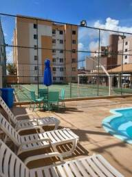Residencial Portal do Atlântico, apartamento 3/4 reformado, na Aruana