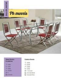 Mesa serata com 6 cadeiras * *