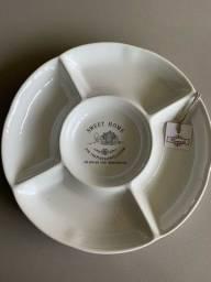 Petisqueira Porcelana Branca 28cm
