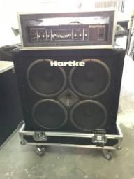 Caixa Hartke Series VX 4 10 Bass + Cabeçote Hartke HA 3500 + Case