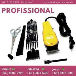 Máquina de Cortar Cabelo e Barba 2 Em 1 Profissional Knup Qr-8918 Cortador