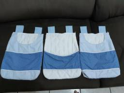 Kit 3 portas fralda de tecido Grão de Gente