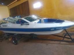 Lancha barco Luna 90 hp 2t yamaha (não é focker, Ventura, seadoo) troco moto ou carro