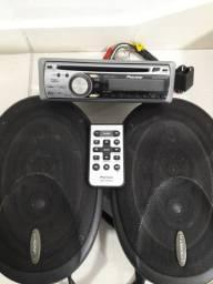 Pioneer Mosfet 50wx4 Wma Cd Mp3 + Auto falantes Pioneer 6 X 9 Modelo Ts-a6986 Original