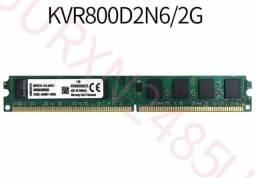 Memória RAM 2GB 1x2GB Kingston KVR800D2N6/2G ValueRAM