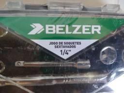 Jogo De Soquete Sextavado Belzer