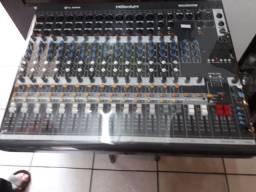 Aparelho de som,mesa e caixa de som,mixer