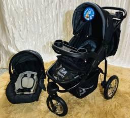Carrinho de bebê 3 em 1 triciclo Novo