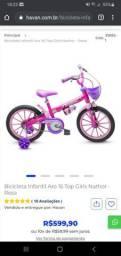 Bike infantil aro 16 menina perfeito estado