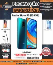 Promoção Xiaomi note 9s 128 /6gb blue + caixinha de som