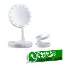 Título do anúncio: Espelho Led para Maquiagem 2 Lados Aumento 10x
