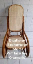 Consertos e empalhamentos de cadeira