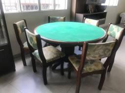 Mesa de jogo madeira maciça