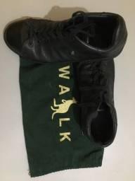 Sapato de couro side walk