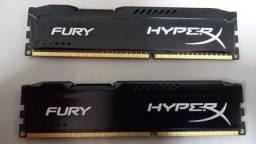 Memórias RAM HyperX Fury DDR3 4GB  2 unidades