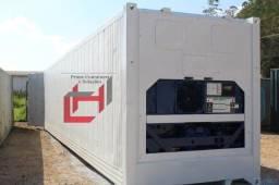 Título do anúncio: Container com maquinario de refrigeração e congelamento