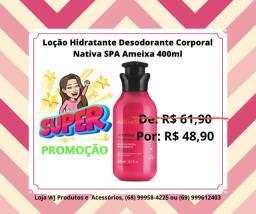 Loção Hidratante Desodorante Corporal Nativa SPA Ameixa, 400ml