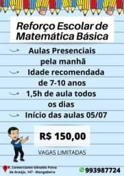 Reforço Escolar de Matemática Básica