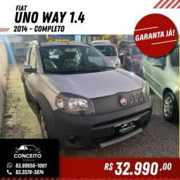 Fiat Uno Vivace WAY 2014 Completo Top Extra.