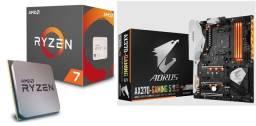 Kit upgrade Ryzen 7 1700x + Placa Mãe X370