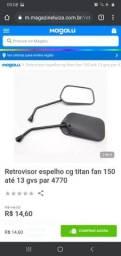 Retrovisor 150 marca GVS preço 15reais usado mas em ótima condições