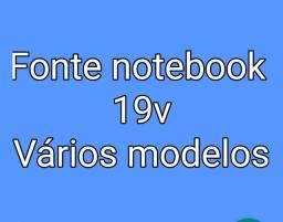 Fonte notebook 19 volts DIVERSOS MODELOS