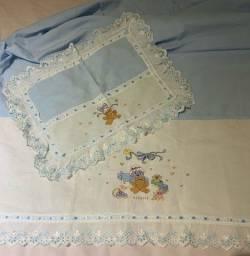 Jogo de cama lençol bebe
