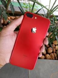 iPhone 7 Plus 128Gb Red - Aceito cartão