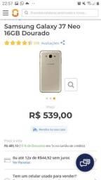 Título do anúncio: Samsung semi novo com caixa + carregador e capa de proteção 16gb
