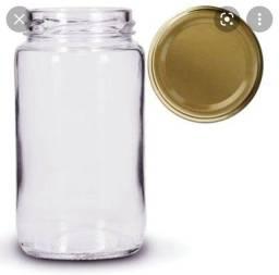 Título do anúncio: Pote de vidro 318ml Caixa com 24 Unidades Acompanha