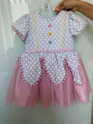 Vestido Infantil de Palhaça
