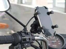 Título do anúncio: Suporte Garra Celular P/Motos Universal, Com Carregador USB