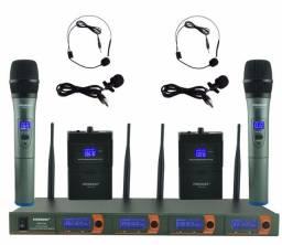 Freeboss FB-V04H2 profissional microfones VHF