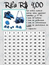 Kit roller radical - Patins inline ajustável