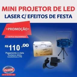 Mini projetor de Led Canhão Laser com Efeitos de Festas