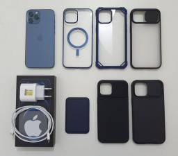 Iphone 12 pro max 128gb azul +R$1.000 em Brindes + Frete Grátis